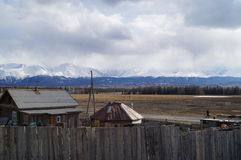 April in Altai  Stock Afbeelding