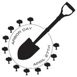 April 27 Arbor Day. Symbol for the April professional holiday Arbor Day vector illustration