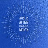 April is Autism Awareness Month. Sign royalty free stock photos