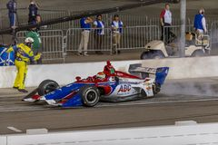 IndyCar: April 07 Desert Diamond West Valley Casino Phoenix Grand Prix. April 07, 2018 - Avondale, Arizona, USA: Matheus Leist 4 leaves the pit box with one stock photo
