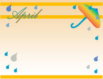 April Background. April shower theme background Royalty Free Stock Images