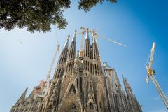 April 11, 2015 barcelona familia sagrada Royaltyfri Foto