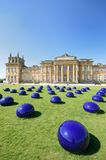 April 2015: Blenheim palace with modern art installation in Foreground Stock Image