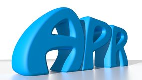 April blues. APR in blue letters, stays for April in the calendar Royalty Free Stock Photography