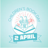 2 April Books for Young. Icon for holiday - Books for Young ( Children's Book Day). Icon in the linear style Stock Image
