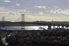 25. April Brücke von Lissabon Stockfotografie