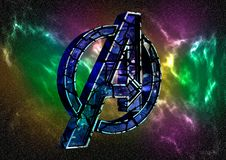 8. April 2019 Brasilien Logo Avengers Endgame Rächer Endgame ist ein Film, der durch Wunder-Studios produziert wird Logo knackt E stock abbildung