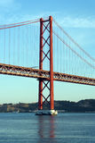 25a April Bridge, Lisboa, Portugal Fotografia de Stock