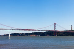 25a April Bridge, Lisboa, Portugal Foto de Stock Royalty Free