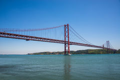 25 april bridge in Lisbon, Portugal Stock Image