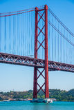 25 april bridge in Lisbon, Portugal Royalty Free Stock Images