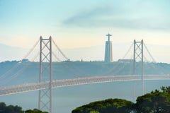 25 April Bridge Lisbona, Portogallo Fotografia Stock