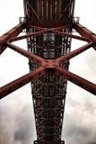 25. April Bridge in Lissabon an einem bewölkten Tag Stockfotografie