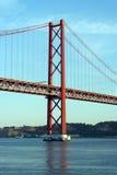 25. April Bridge, Lissabon, Portugal Stockfotografie