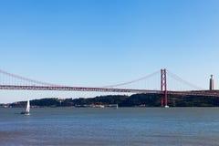 April Bridge, Lissabon, Portugal Lizenzfreies Stockfoto