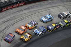 NASCAR: April 15 Food City 500. April 15, 2018 - Bristol, Tennessee, USA: Denny Hamlin 11, Erik Jones 20, Daniel Suarez 19, Alex Bowman 88, Ricky Stenhouse, Jr stock images