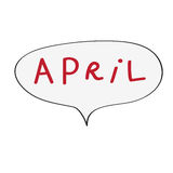 April buble Stock Photography