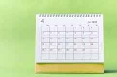 Free April Calendar 2021 Royalty Free Stock Photography - 214302757