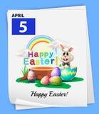 An April 5 calendar Stock Images