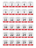 April Calendar Icons Royalty Free Stock Image
