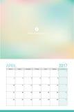 April 2017 calendar Stock Photography