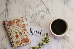 April calendar Royalty Free Stock Images