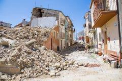 April 25, 2017, Camposto, landskap av L ` Aquila, Abruzzo, Italien Royaltyfri Bild