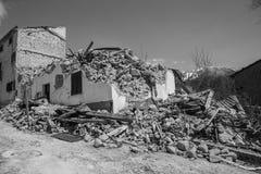 April 25, 2017, Camposto, landskap av L ` Aquila, Abruzzo, Italien Royaltyfri Fotografi