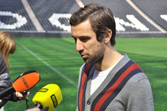 Darijo Srna answers questions Stock Images