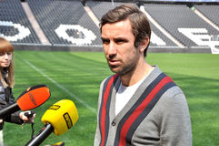 Darijo Srna looks into the camera Royalty Free Stock Image
