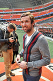 Darijo Srna goes to a meeting with journalists Royalty Free Stock Photography