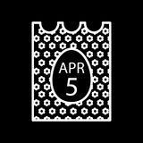 April 5, 2018. Catholic Easter on calendar vector icon. Simple, flat line illustration. Outline design. Eps 10. April 5, 2018. Catholic Easter on calendar vector Royalty Free Stock Photography