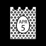 April 5, 2018. Catholic Easter on calendar vector icon. Simple, flat line illustration. Solid design. Eps 10. April 5, 2018. Catholic Easter on calendar vector Stock Photo