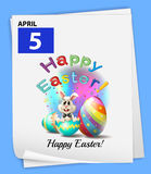 An April 5 celebration. On a blue background Royalty Free Stock Images