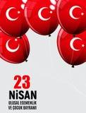 23 April Children`s day Turkish Speak: 23 Nisan Cumhuriyet Bayrami. Vector Illustration. EPS10 Royalty Free Stock Images