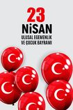 23 April Children`s day Turkish Speak: 23 Nisan Cumhuriyet Bayrami. Vector Illustration. EPS10 Royalty Free Stock Photography