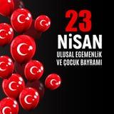 23 April Children`s day Turkish Speak: 23 Nisan Cumhuriyet Bayrami. Vector Illustration. EPS10 Stock Photos