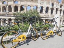 21 april 2018, coliseum, Rome Italië Veel toeristen royalty-vrije stock foto