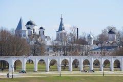 April day in the historic part of Veliky Novgorod Stock Image