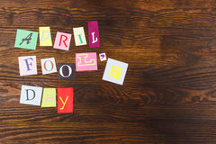 April-de dag van de dwaas, document brieven Royalty-vrije Stock Foto's