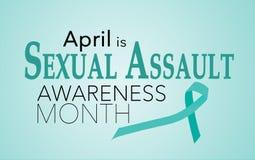 April is de Seksuele Maand van de Aanvalsvoorlichting royalty-vrije stock foto