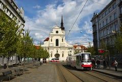 16 april, 2017 de stad van Brno - Tsjechische Republiek - Europa Poort van het Oude Stadhuis Royalty-vrije Stock Foto