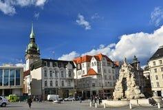 16 april, 2017 de stad van Brno - Tsjechische Republiek - Europa Poort van het Oude Stadhuis Royalty-vrije Stock Fotografie