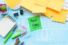April-de vieringsconcept van de dwaas` s dag royalty-vrije stock foto's