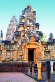 April 15, 2017 - det Sa Kaeo landskapet - Thailand - sight`-Prasat Sadok Kok Thom ` - en tempel som byggs enligt hinduiska troar Royaltyfria Bilder