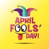 April dumboms dag, typografi som är färgrik Arkivbilder
