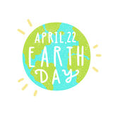 April, 22. Earth day. Stock Photo