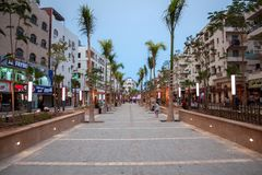 April 2018, Egypt, Hurghada. Sherry Street in Hurghada. royalty free stock photography