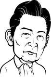 April 8, 2017: En karikatyr av den sena 10th presidenten av Filippinerna, Ferdinand Marcos Sr royaltyfri illustrationer