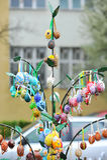 April 06, 2017 Exhibition Easter eggs in Uzhgorod in Ukraine Royalty Free Stock Photo